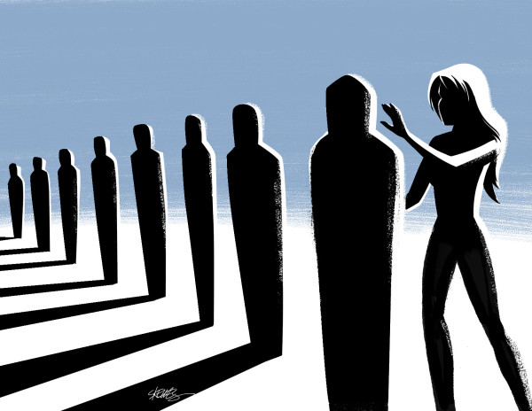Illustration ©John Skewes, story by  Jon Michael Kelley